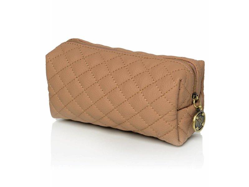 TOV Vanity Cosmetic Bag Camel