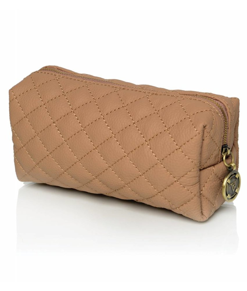 TOV Vanity Cosmetic Bag Camel