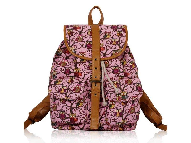 MT Pink Owl Print Backpack