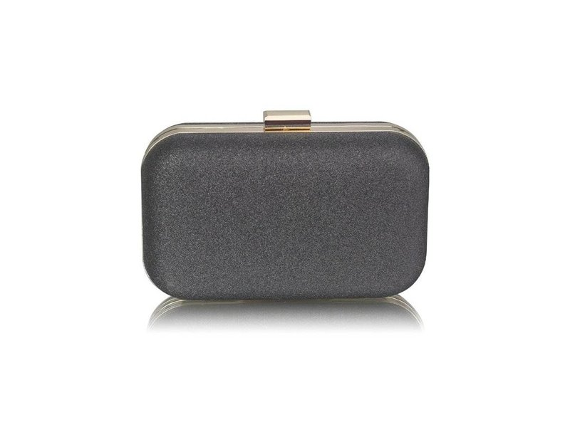 MT Black Glitter Clutch Bag