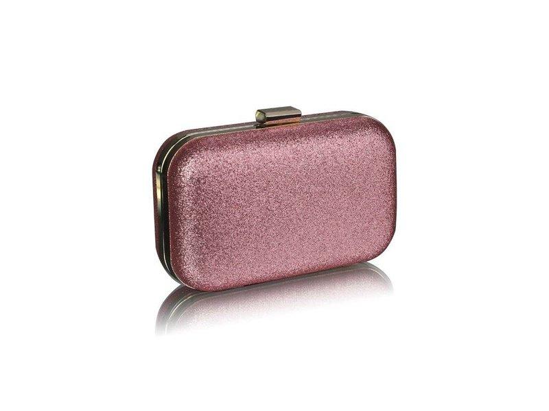 MT Champagne Glitter Clutch Bag