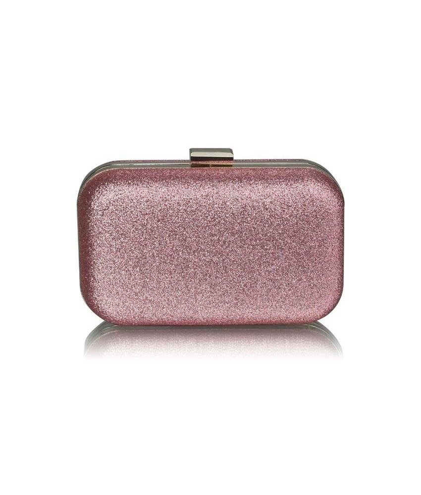 MT Champagne Glitter Clutch Bag