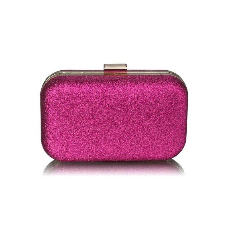 MT Fuchsia Glitter Clutch Bag