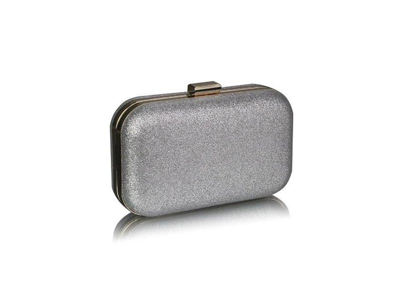 MT Silver Glitter Clutch Bag