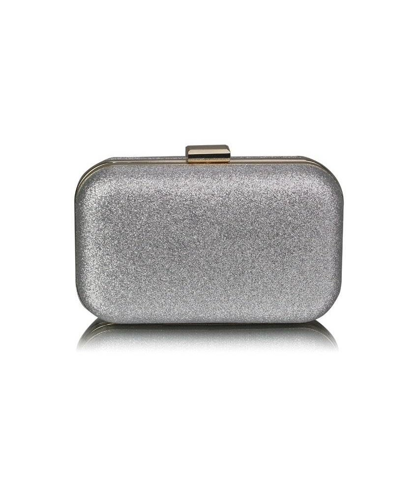 MT Silver Glitter Clutch Bag