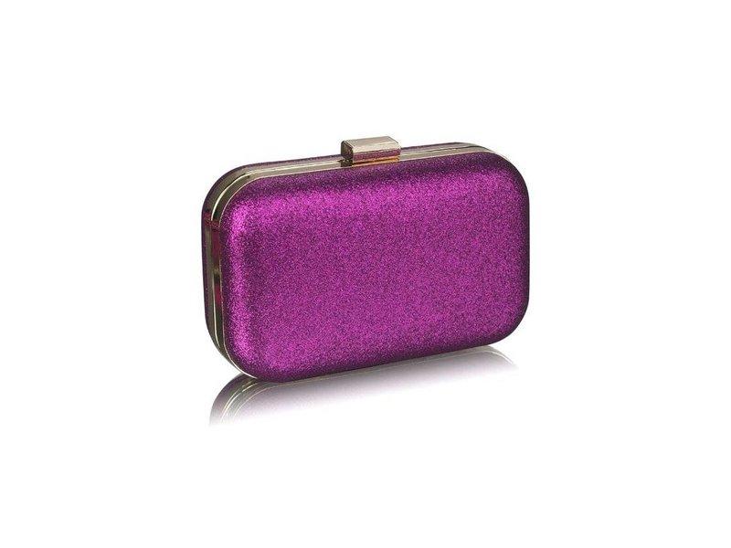 MT Purple Glitter Clutch Bag