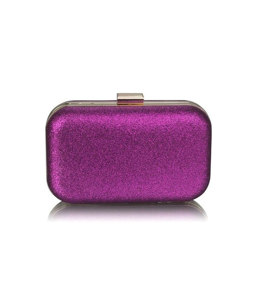 MT Purple Glitter Clutch Bag