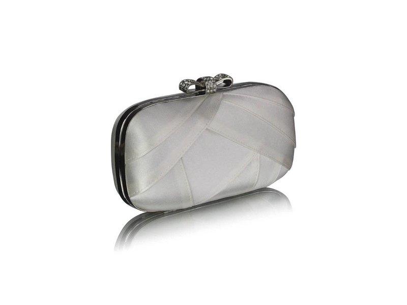 MT Ivory Satin Clutch Evening Bag