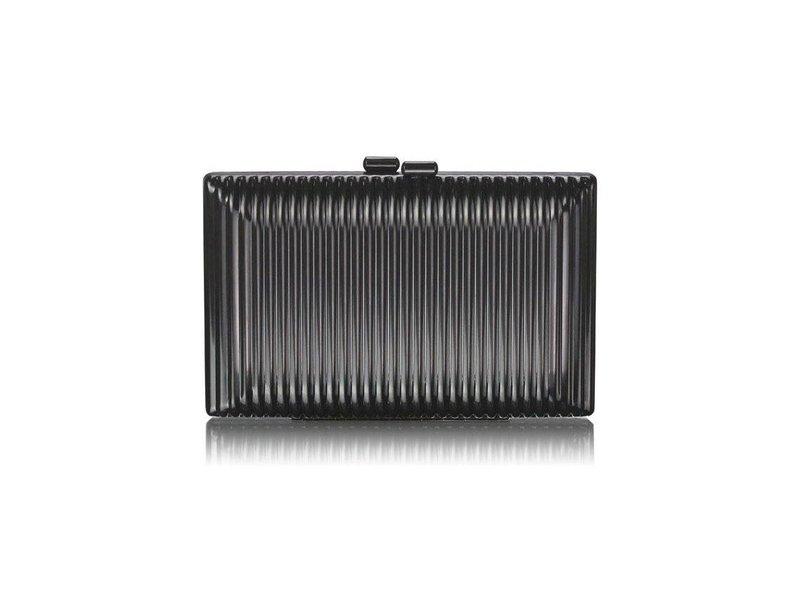 MT Black Hardcase Clutch Bag