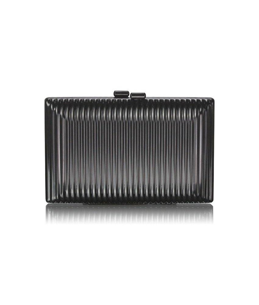 MT Black Hardcase Clutch Bag