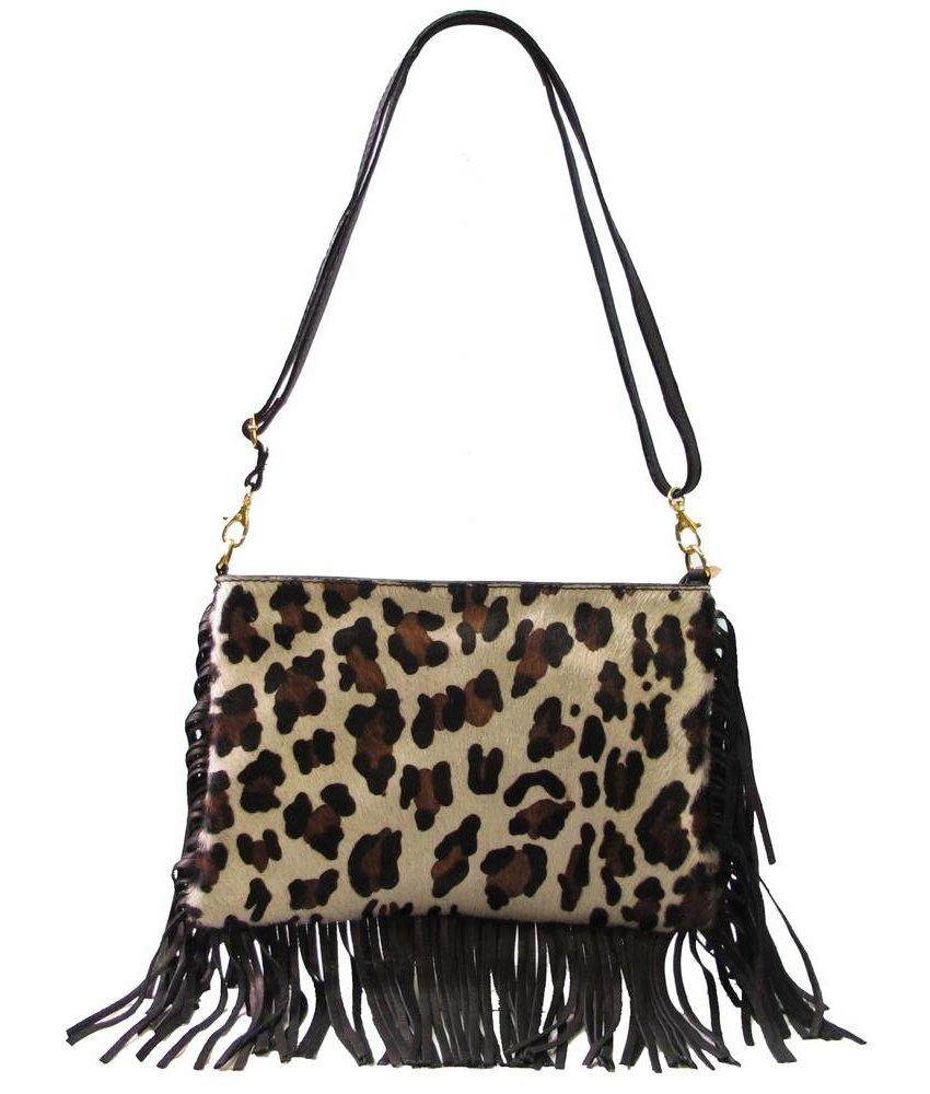MT Janny Leather Handbag Black Panther