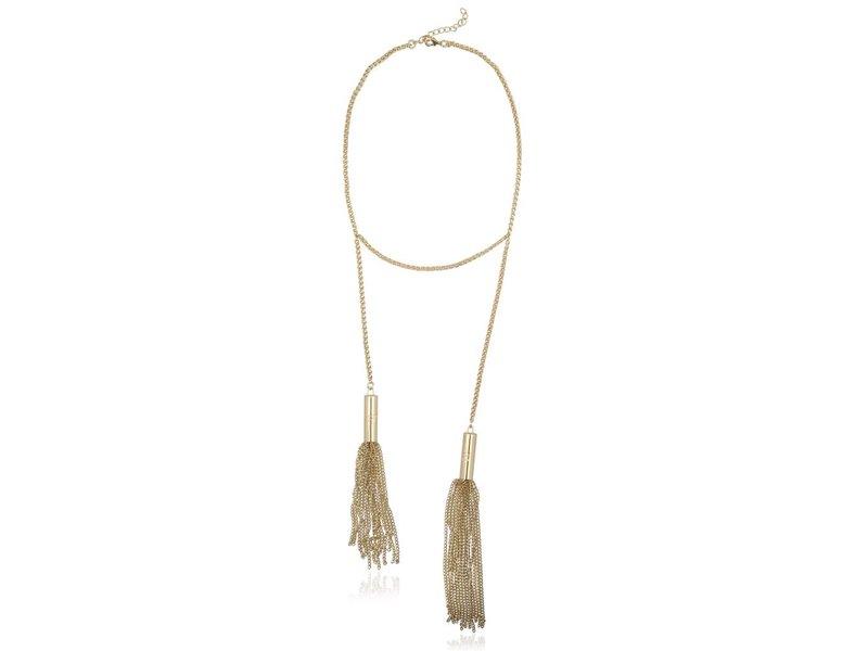 Supertrash Fringe Necklace Gold