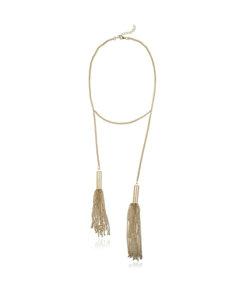 Supertrash Fringe Necklace Gold