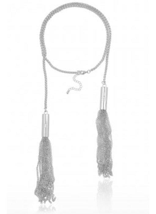 Supertrash Fringe Necklace Silver