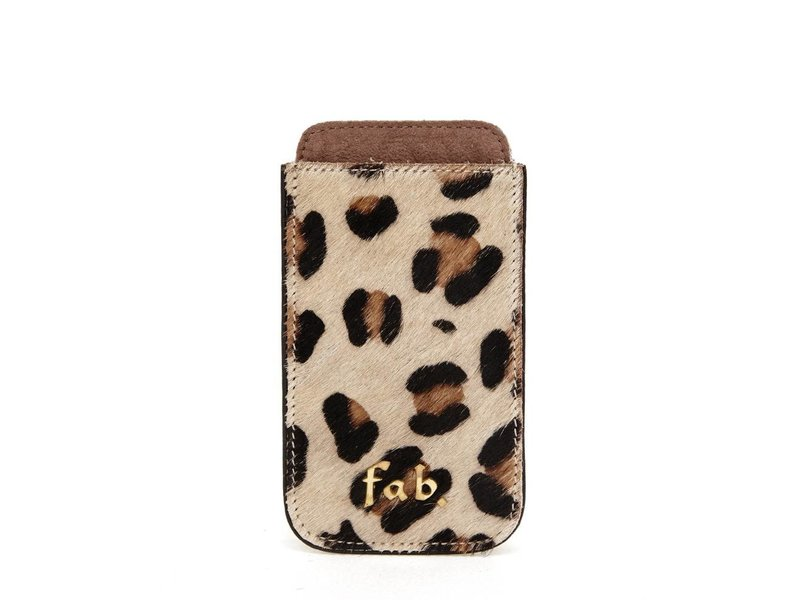 FAB Iphone 3 Cover Letter Logo Leopard