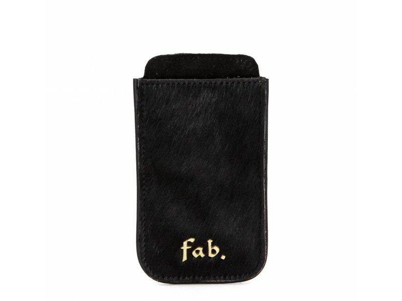 FAB Iphone 3 Cover Letter Logo Schwarz