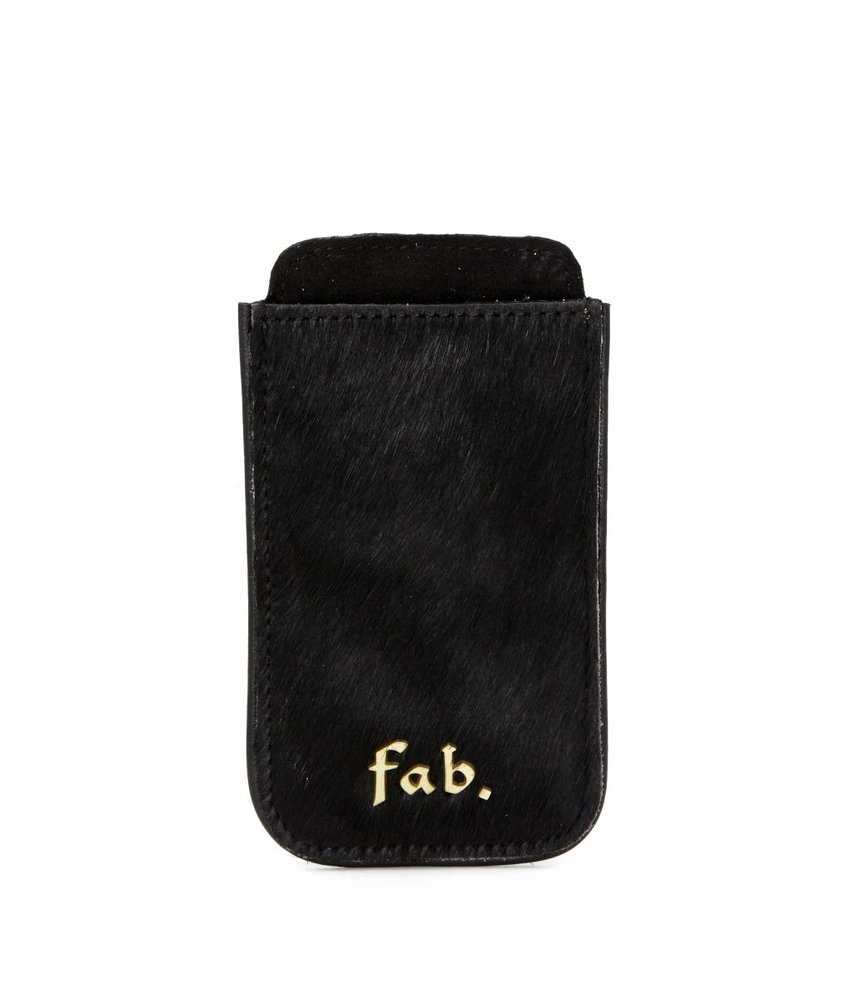 FAB Iphone 3 Cover Letter Logo Black