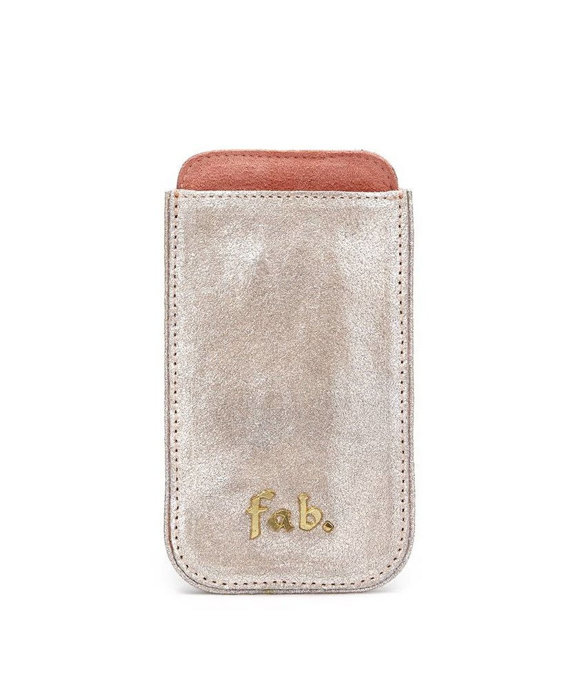 FAB Iphone 3 Cover Letter Logo Silber
