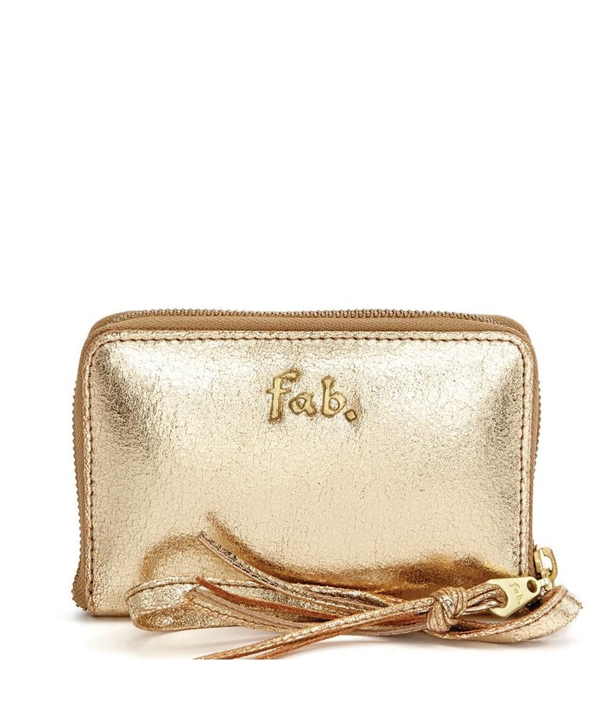 FAB Phone Wallet Gold-Metallic