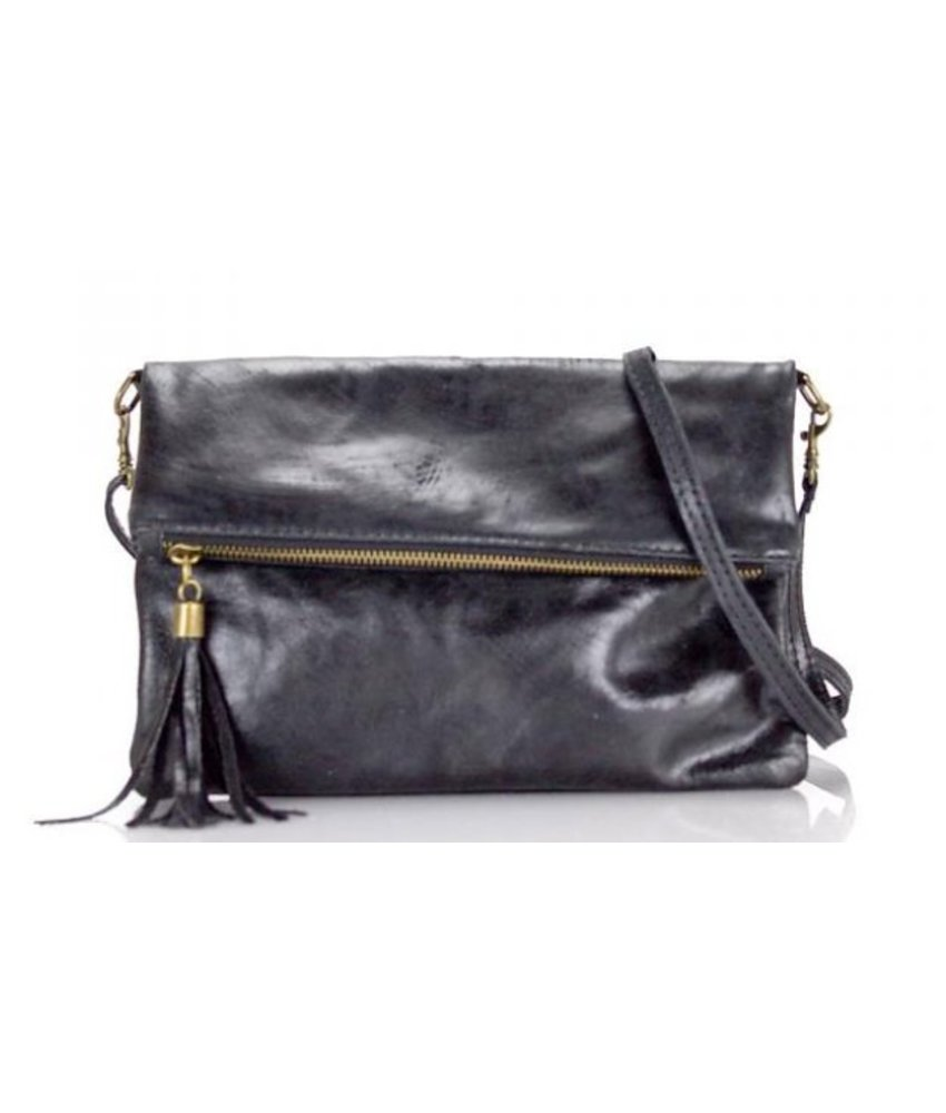 MT Little Leather Bag Black