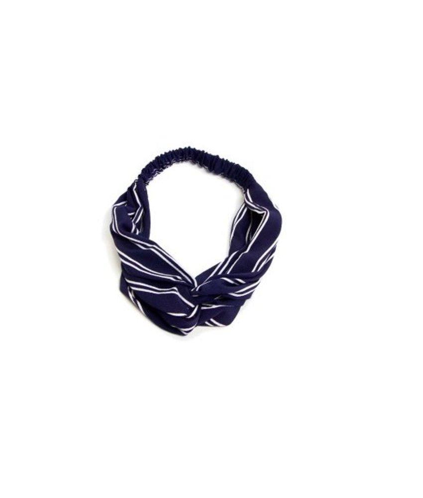 MT Haarband Blauw/wit