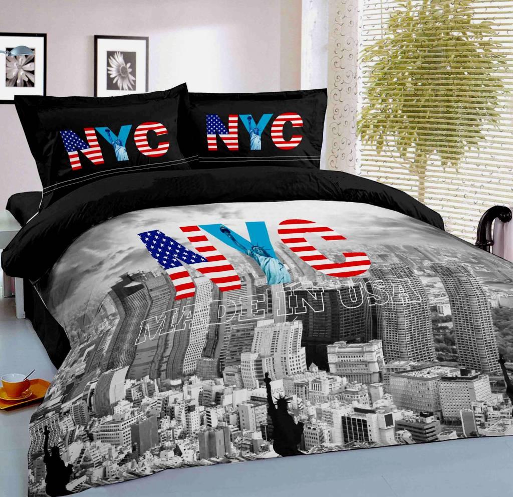 Dekbedovertrek New York   Fine2Sleep nl