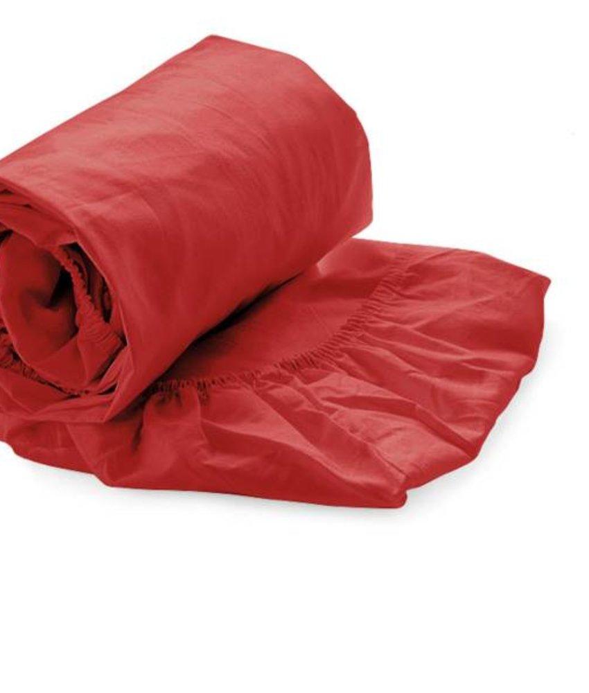 Hoeslaken Satijn Rood
