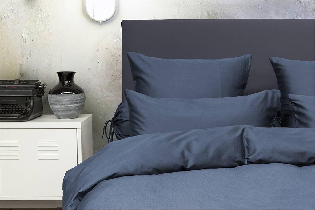 Satijnen dekbedovertrek blauw fine sleep