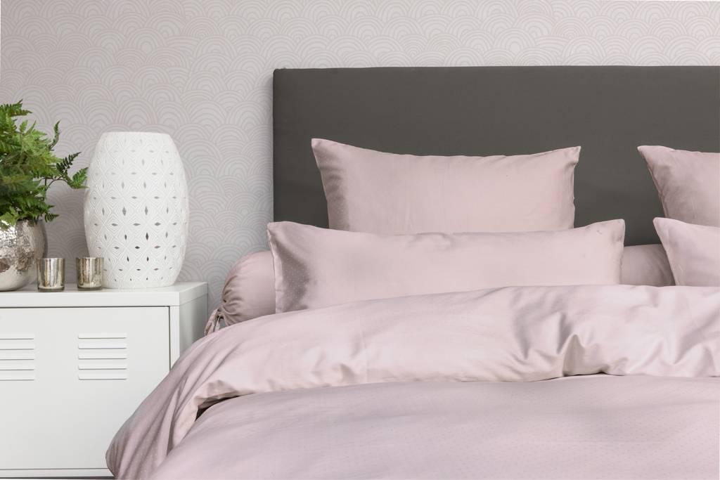 Satijnen dekbedovertrek roze fine sleep