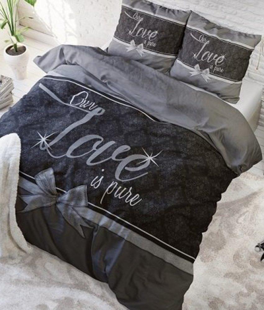 Dekbedovertrek Pure Love Grey