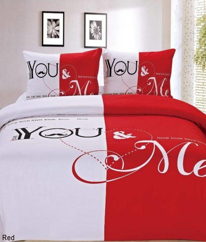 Dekbedovertrek You & Me Red