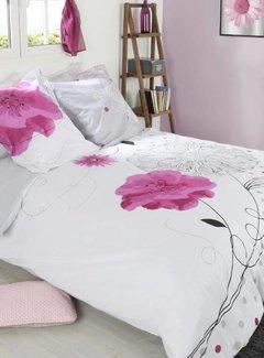 Kasteel Dekbedovertrek Pink Flower
