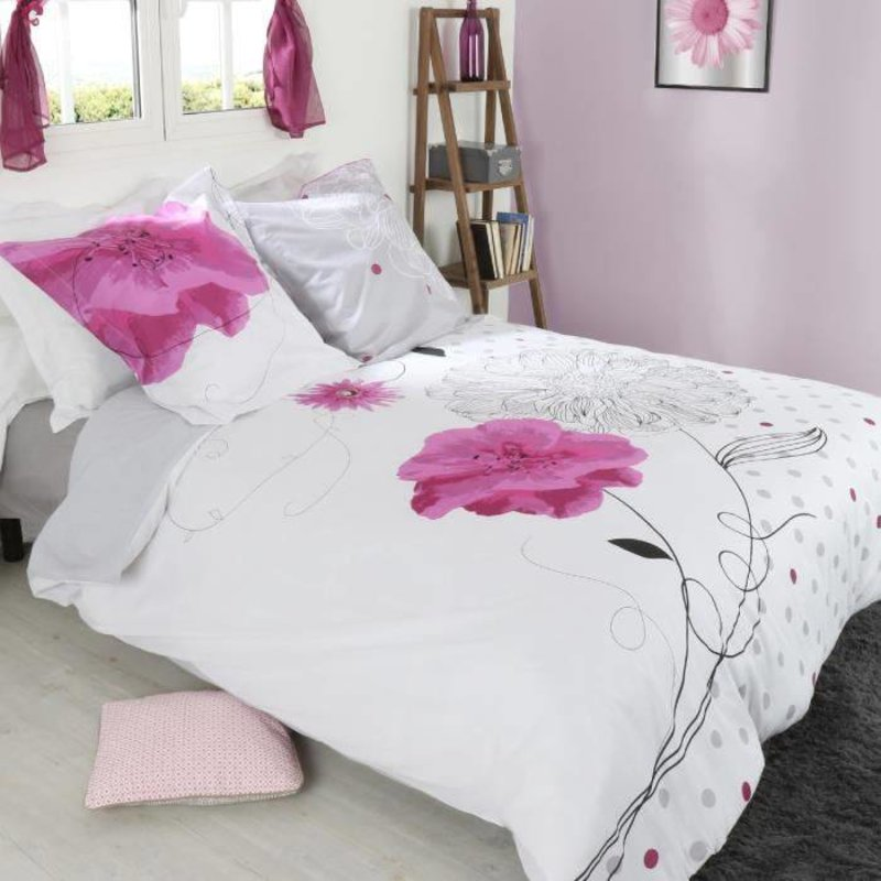 Dekbedovertrek Pink Flower