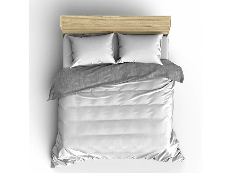 Nightlife Fresh Dekbedovertrek Washcotton White Grey