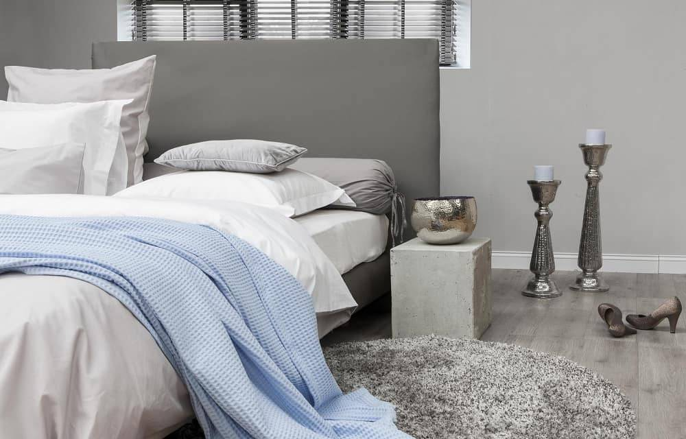 Interieur Ice Blauw : Wafel plaid lichtblauw fine sleep
