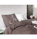 Sleeptime Pure Cotton Dekbedovertrek Jij & Ik Taupe