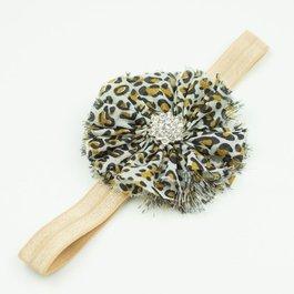 Haarbandje luipaard bruin