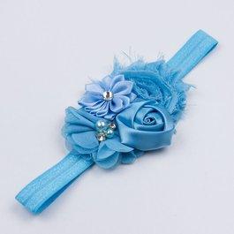 * Haarbandje bloemen (blauw)