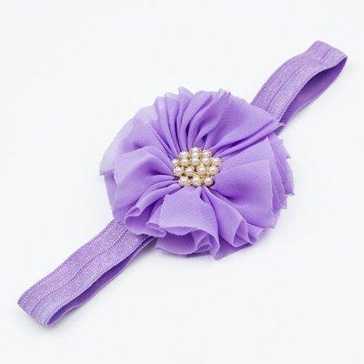 Haarbandje vintage bloem parel lila