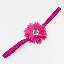 Haarbandje kleine chiffon bloem (fuchsia)