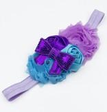 Baby haarbandje blauw/paars/turquoise