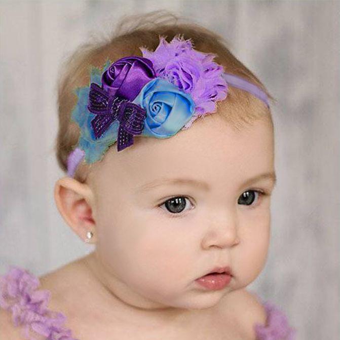 Baby haarbandje lichtroze/fuchsia