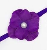 Baby haarbandje met hortensia bloem (paars)