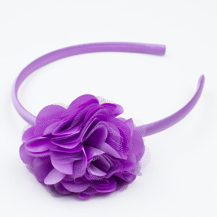 Diadeem rozet/satijn (paars)
