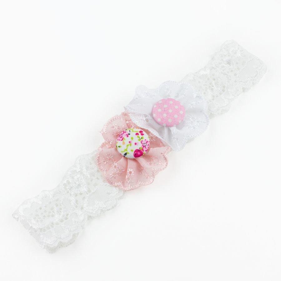 Baby haarbandje kant met bloemen en kopen