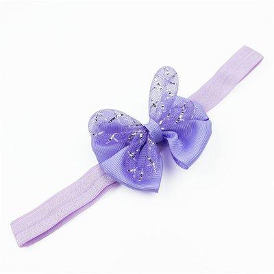 Haarbandje met strik glitter (lila)