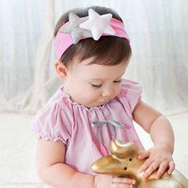 Haarband twee sterren (roze)