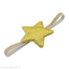 Haarbandje glitter ster (goud)