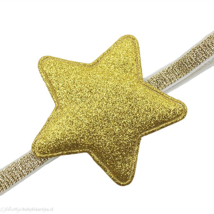 Baby haarbandje glitter ster (goud)