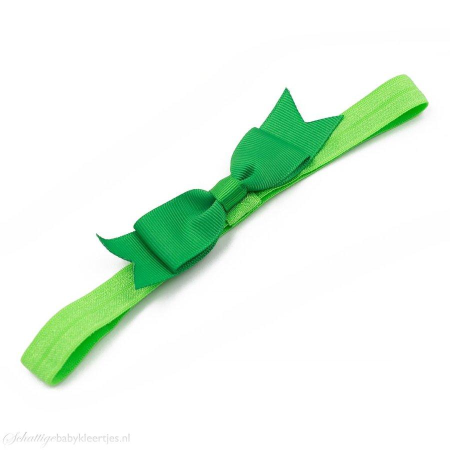Baby haarbandje kleine, smalle strik (emerald)
